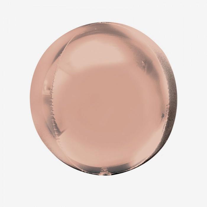 Folieballong - Orbz Rosé guld