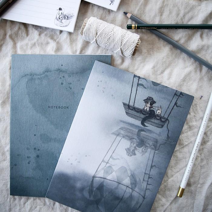 2-pack Notebooks Flying Boat -  Mrs Mighetto