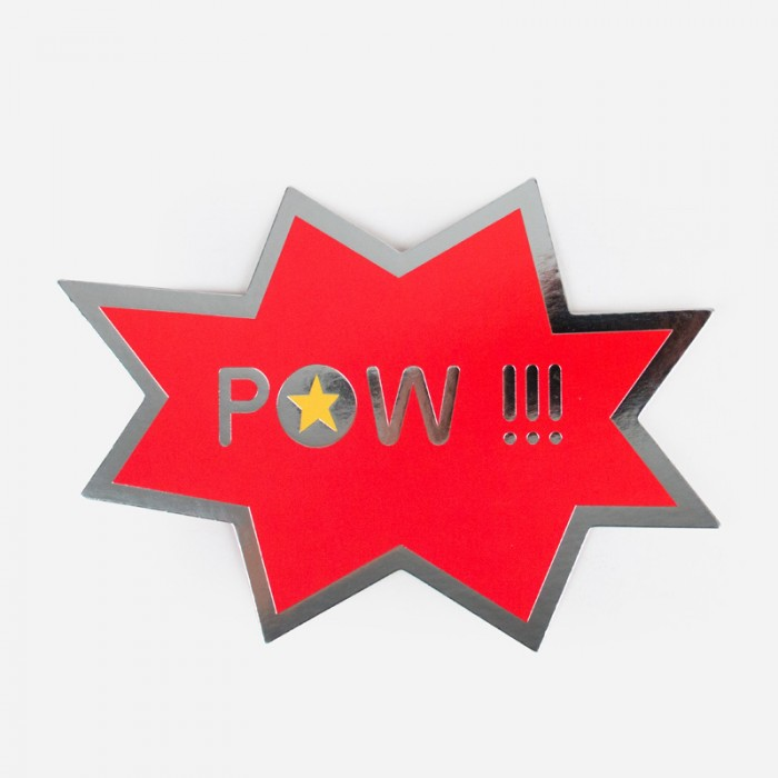 "Inbjudningskort Superhero ""POW"""