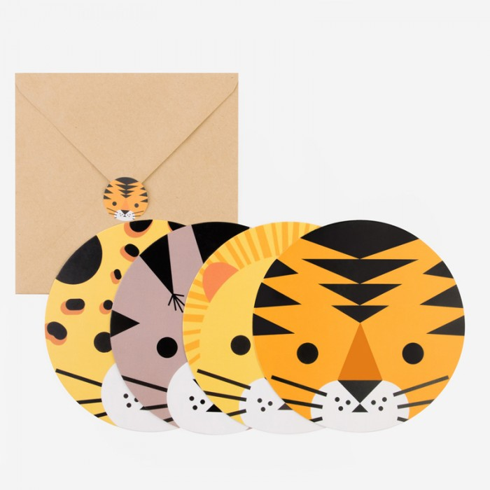 Inbjudningskort Mini Felines