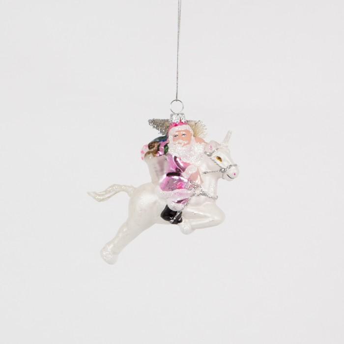 Julgranskula Santa on Unicorn