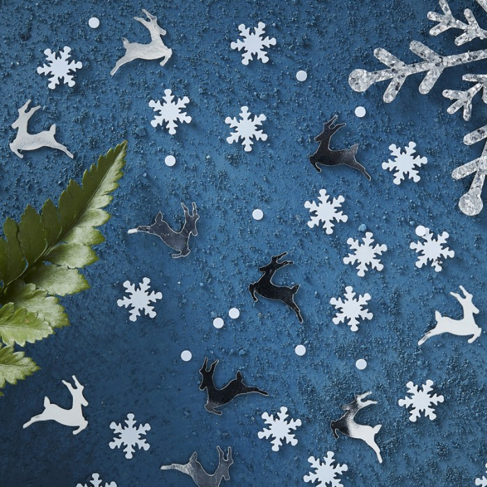 Konfetti Silver Stag & Snowflake