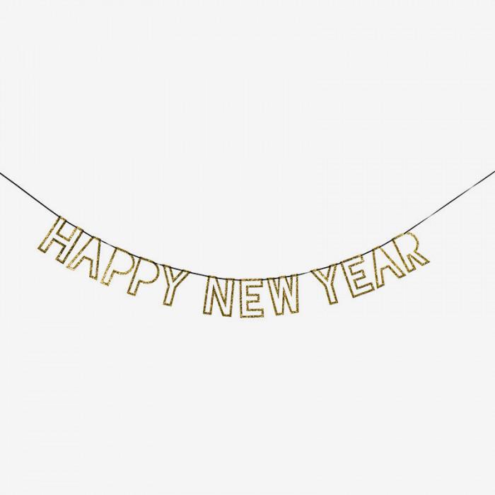 Girlang - Happy New Year - Guld
