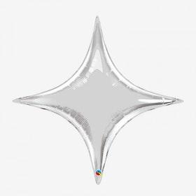 Folieballong - Starpoint Silver