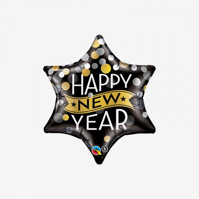 Folieballong - New Year Star
