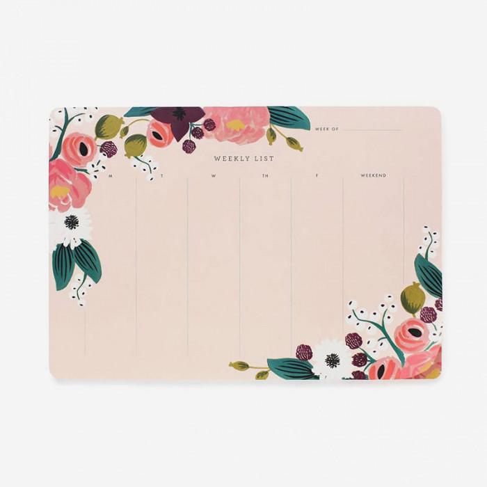 Veckoplanerare Pink Floral