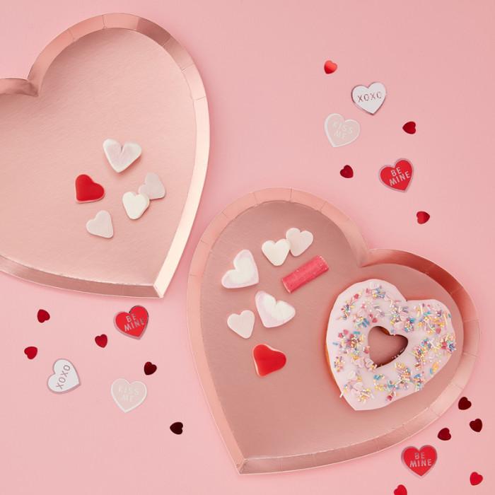 Tallrikar Hjärtan Valentines