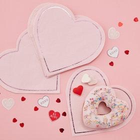 Servetter Hjärtan Valentines