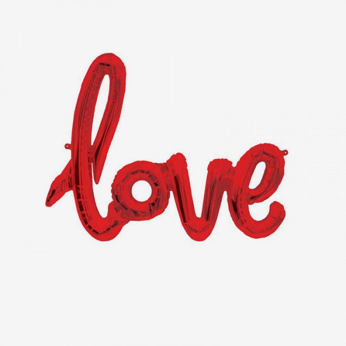 Folieballong - Love Röd