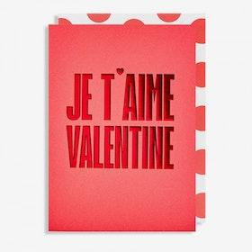 Kort Je t'aime Valentine
