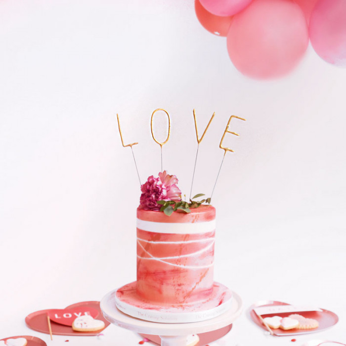 Tårtljus Tomtebloss - LOVE