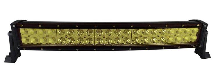 "LED-ljusramp 22"" 120W ledramp böjd gult ljus 6000K fjärrkontroll"