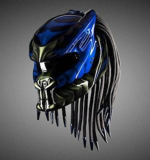 Predator MC hjälm med flätor - Storlek XL