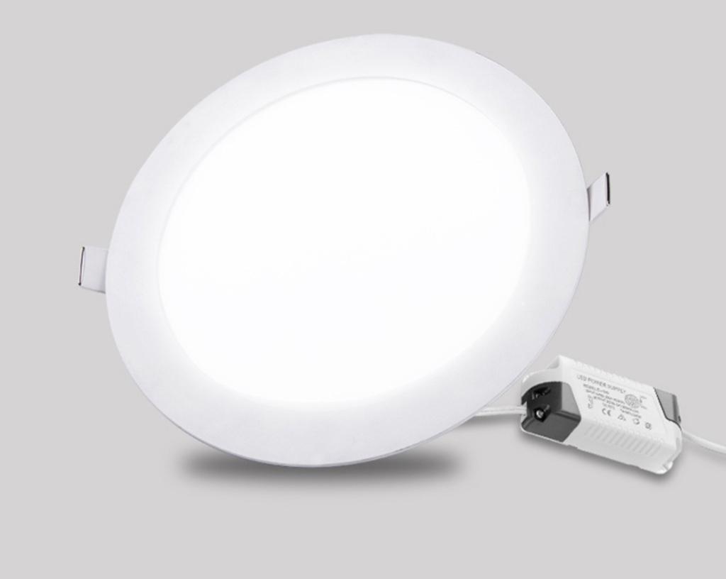 LED downlight slimmad med drivdon 12W vit