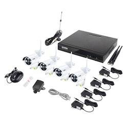 ZOSI Övervakningspaket 4st trådlösa IP-kameror 960P Vattentäta