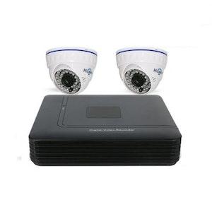 HISEEU övervakningssystem 2st kameror 720P Inomhus 1080P DVR