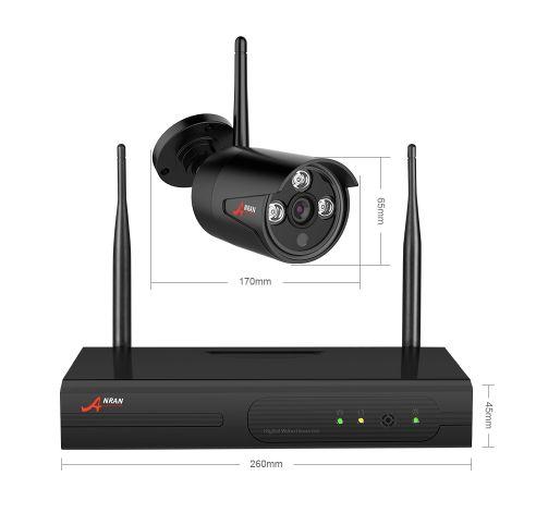 ANRAN Övervakningssystem trådlös övervakningskamera Wi-fi 1080P