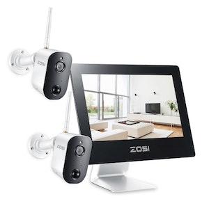 "ZOSI WiFi Övervakningssystem 1080P 9"" LCD-skärm touch"