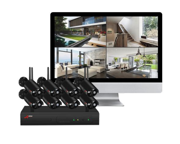 Anran övervakningspaket 8st kameror 1080P Wifi