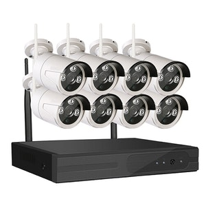 Sumoguard 1080P HD Övervakningssystem 8 st trådlösa IP-kameror