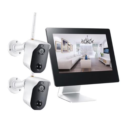 """ANRAN WiFi Övervakningssystem 1080P 9"""" LCD-skärm touch"""