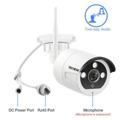 Techege 1080p HD Övervakningssystem 4 st trådlösa IP-kameror, Wi-fi NVR-kit