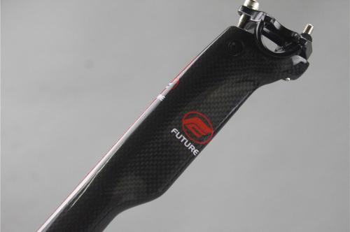 Kolfibersadelstolpe för Racer, MTB, alla cyklar 400mm