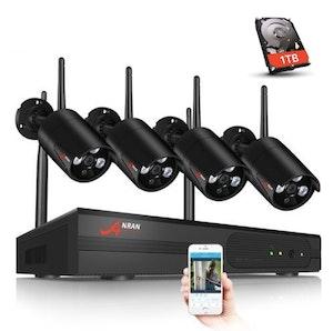 ANRAN Övervakningssystem Wi-fi NVR  1080P 1TB