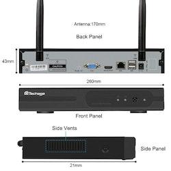 Techage Övervakningssystem 1TB HD 2st wifi IP-kameror 720P