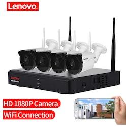 LENOVO Övervakningspaket 4st kameror 1080P IP66-klassat