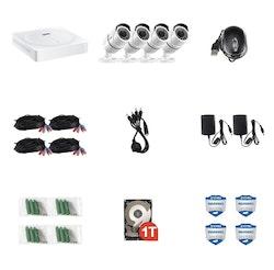 ZOSI Övervakningssystem 2560X1920P IP67 4 Kameror 1TB