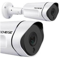 Techege PoE Övervakningssystem 1080P 8Kameror IP67 1TB
