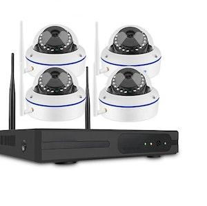SUMOGUARD Övervakningssystem trådlösa IP-kameror, 1080P HD + 1TB