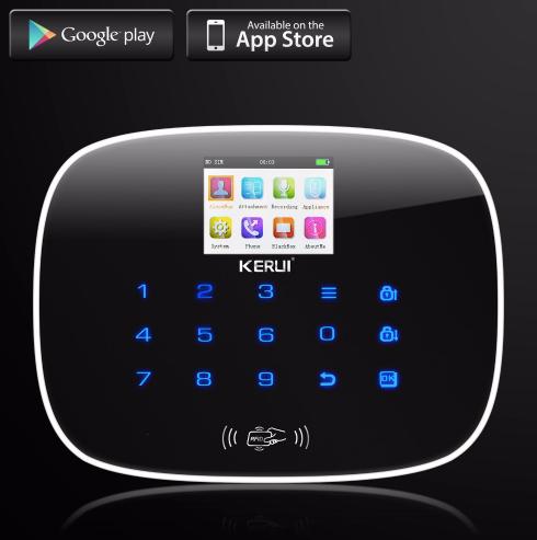 KERUI Avancerat GSM RFID Trådlöst Hemlarmsystem Kamera