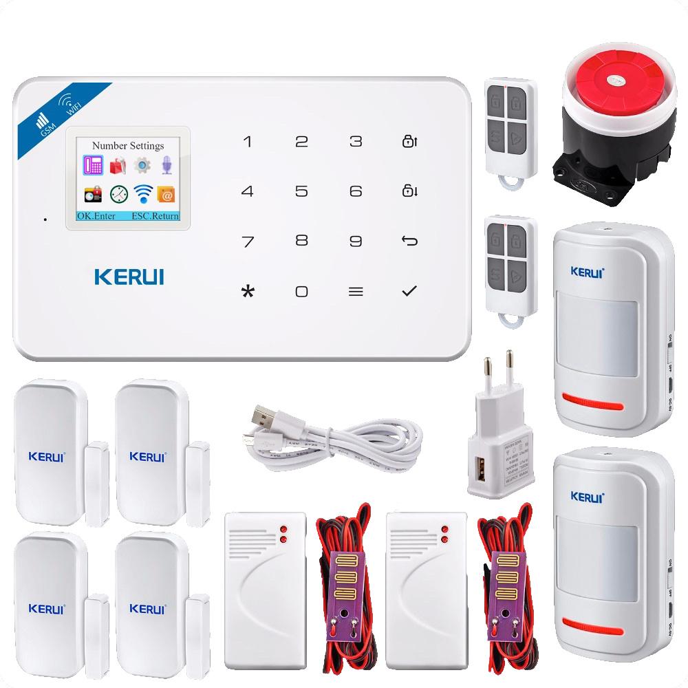 KERUI Komplett Wi-Fi GSM Trådlöst Hemlarm Vattendetektor