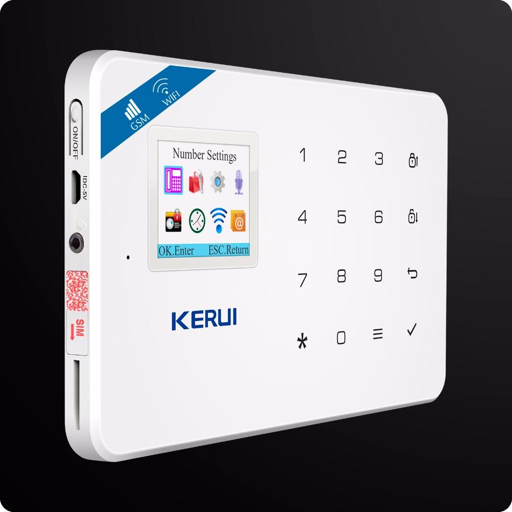 KERUI Komplett GSM Trådlöst Hemlarm Rökdetektor