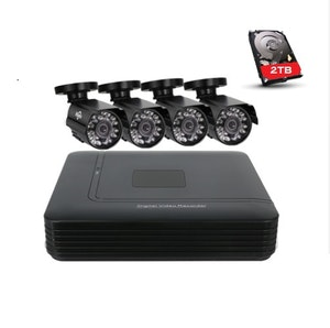 HISEEU övervakningssystem, 4 kameror 720P väderbeständiga