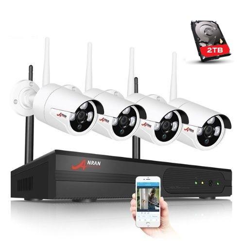 ANRAN Övervakningssystem trådlösa IP-kameror, Wi-fi NVR-kit 1080P