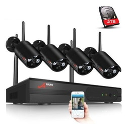 ANRAN Övervakningssystem Wi-fi NVR 1080P HD 2TB