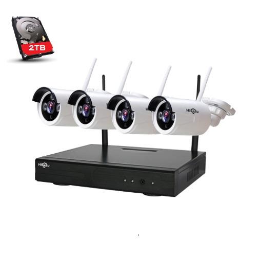 HISEEU Övervakningssystem trådlösa IP-kameror, Wi-fi 720P HD