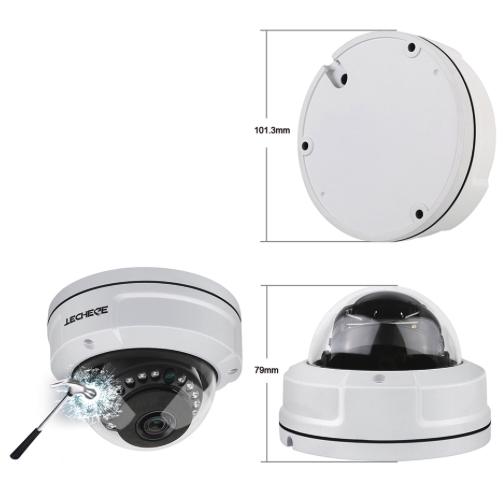 Techege PoE Övervakningssystem 1080P 4 Kameror IP66 2MP 2TB