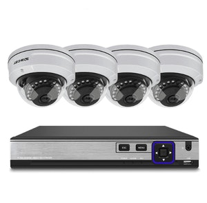 Techege PoE Övervakningssystem 1080P 4 Kameror IP66 5MP 2TB