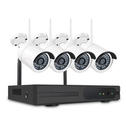 SUMOGUARD Övervakningssystem trådlösa IP-kameror, Wi-fi NVR-kit 720P HD