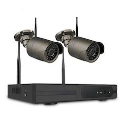 SUMOGUARD Övervakningssystem 2st kameror Wi-fi 720P HD 2TB