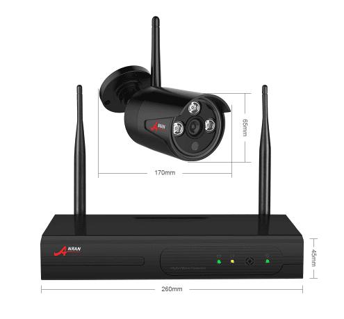 Anran övervakningspaket 8st kameror 1080P Wifi 2TB hårddisk