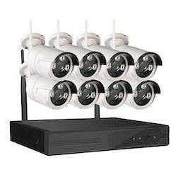 Sumoguard 1080p HD Övervakningssystem 8 st WiFi IP-kameror 2TB