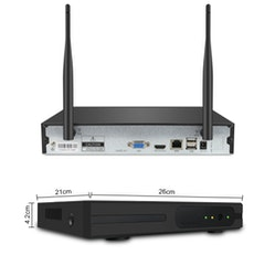 SUMOGUARD Övervakningssystem trådlösa IP-kameror, 1080P HD + 2TB