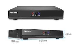 PoE Övervakningssystem 4 kanaler Techege 1080P 4 Kameror 2TB