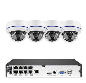 Komplett PoE Övervakningssystem Sumoguard 1080P 4 Kameror 2TB