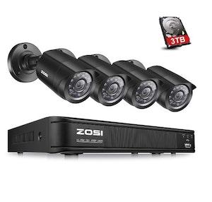 ZOSI Övervakningspaket 4st kameror 720P Vattentät